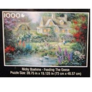 New 1000 PC Puzzle Cottage Garden Geese